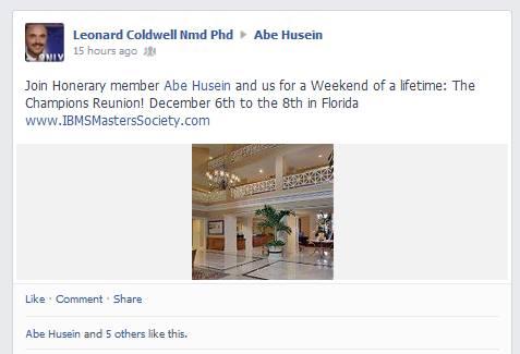 Abe an 'Honorary' member of the IMBSingU Club!