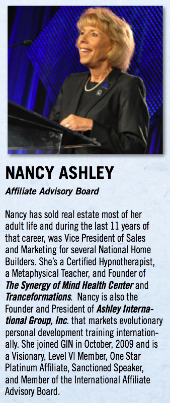 Nancy Ashley, successful business woman, with real credentials, not ones from a defunct degree mill like Lenny's!