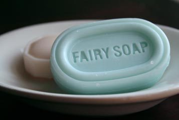 Need some fairy soap to wash that mouth out Sarah? Start with this, I've got a larger order coming from Cosco just for you.