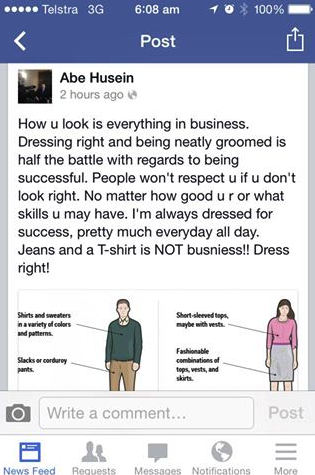 Abe's advice about dressing professionally.  If you're wearing jeans and t-shirt, you're nothing!