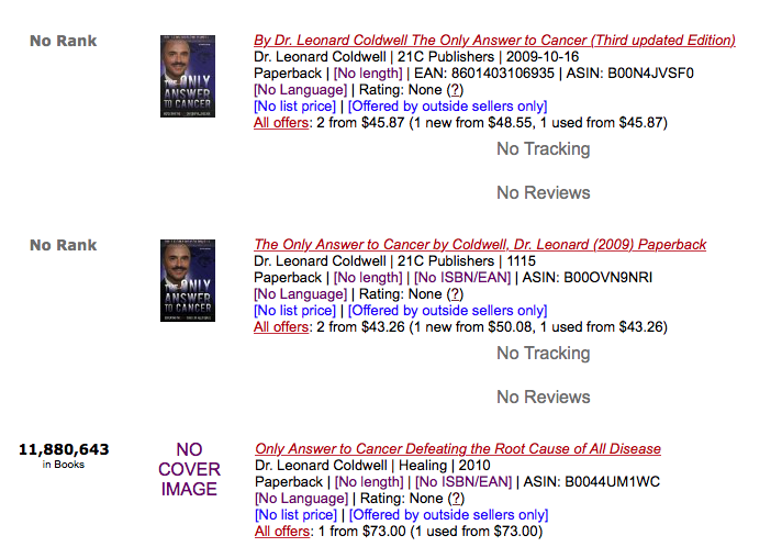 Just one screenshot of Loony's book ranking.