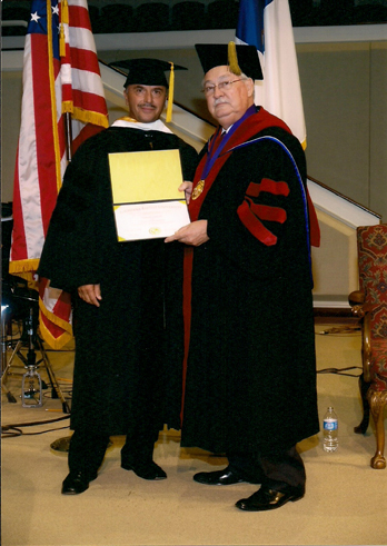 Loony receives an Honorary Degree in Humanities from LBU. LBU (Louisiana Baptist University) is not accredited by any accrediting body recognized by the United States Department of Education.