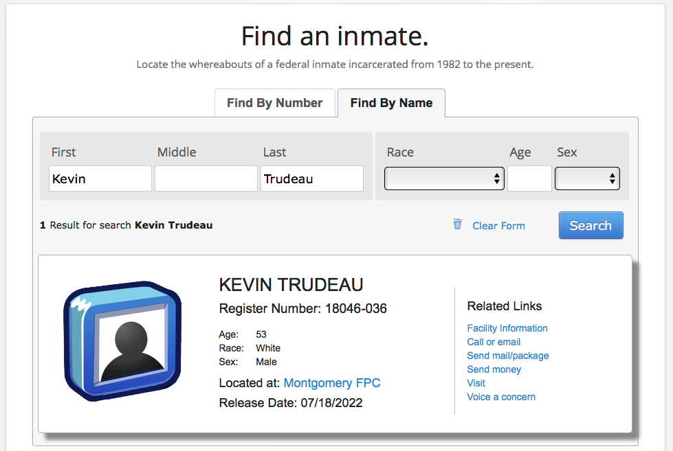 Kevin Trudeau - Inmate. Your money is safe until 2022